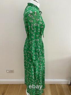 Anthropologie Primrose Park London Kate Robe. Vert/rose. Douleur Moyenne. Rrp £299