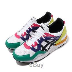 Asics Tiger Gel-lyte V Blanc Noir Rose Vert Hommes Chaussures De Course 1191a227100