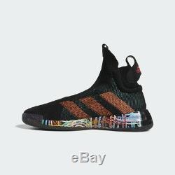 Basket-ball Adidas N3xt L3v3l Noir Imprimer Rose Vert Hommes Hoops Sneaker New Bb7803