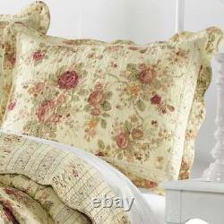 Bel Ensemble De Courtepointe Florale Rose Vintage De Cottage Vintage