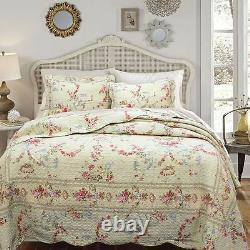 Belle Romantique Rose Rose Rose Rouge Vert Bleu Ivoire Blanc Blanc Quilt Set