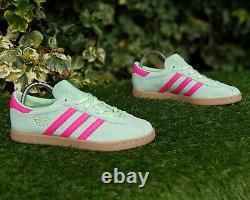 Bnwb & Genuine Adidas Originals Stadt Trainers Glow Green & Pink Uk Taille 8