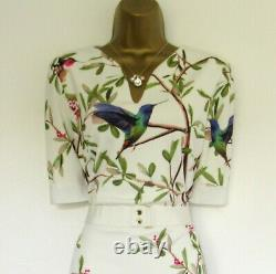 Bnwot Ted Baker Robe Taille Tb 3 (uk 12) Evrely Pink Green Cream Lined