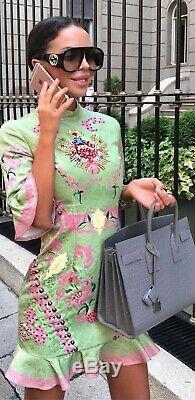 Bnwt Comino Couture Vert Et Rose Robe Péplum Uk8 Asos Celeb Mariage Prom Party