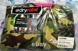 Bnwt Green Pink Camo Dryrobe Advance Manches Longues, Taille Petite Sup Surf Swim