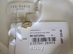 Bnwt Ted Baker Robe Tb 4 (uk 14) Idola Rose Menthe Vert Ivoire Fit & Flare Doublé