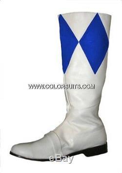 Bottes Power Ranger Mmpr Sur Mesure! Rouge Blanc Vert Bleu Noir Rose Jaune