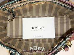 Brahmane Retraite Ltd Ed Solandra Floral Rose Et Vert Asher Fourre-tout Et Portefeuille Tn-o