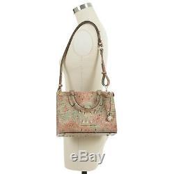 Brahmin Anywhere Convertible Sandstone Marbre Rose Vert Menthe Cuir Croco