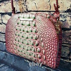 Brahmin Leah Julep Rose Vert Ombre Blanc Melbourne Crossbody Bag Rare