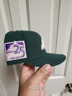 Cap City Exclusive Colorado Rockies Vert Rose Uv Ajusté Chapeau 7 3/8 Hat Club