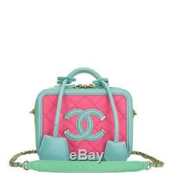 Chanel Mini-valise En Filigrane Rose, Vert Et Bleu