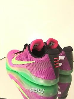 Chaussure De Basketball Nike Kobe XI Zoom 11, Taille Basse, Sz 10, Rose / Vert