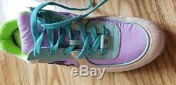 Chaussures De Sport Authentique Chanel Vert / Violet / Rose Neuf Dans La Boîte 9.5 / 39.5 Super Cute