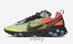 Chaussures Hommes Nike React Element 87 Aq1090-700 Volt Aurora Vert Racer Rose 2019