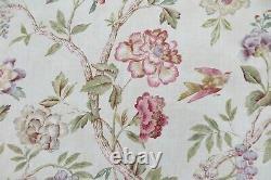 Colefax Et Fowler Curtain Fabric Design Leonnora 6.6 Mètres Lin Rose/vert