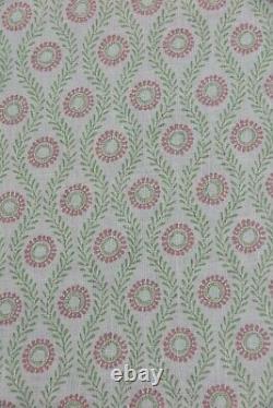 Colefax Et Fowler Curtain Fabric Design Swift 3.2 Metre Pink/green 100% Lin