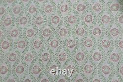Colefax Et Fowler Curtain Fabric Design Swift 4.4 Metre Pink/green 100% Linen