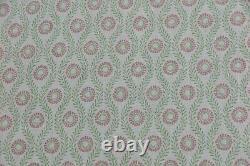 Colefax Et Fowler Curtain Fabric Design Swift 6 Mètres Rose/vert 100% Lin