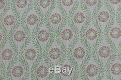 Colefax Et Fowler Rideau Tissu Conception Swift 3 Mètres Rose / Vert 100% Linge