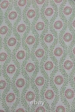Colefax Et Fowler Rideau Tissu Design Swift 9,6 Mètres Rose/vert 100% Lin