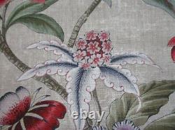 Colefax & Fowler Curtain Fabric'celestine Pink/green 10,5 Métres 100% Lin