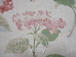 Colefax & Fowler Curtain Fabric'eloise Pink/green' 8 Mètres 100% Lin