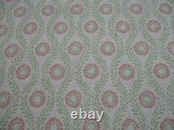 Colefax & Fowler Curtain Fabric'swift Pink/green' 7,5 Metres 750cm 100%line