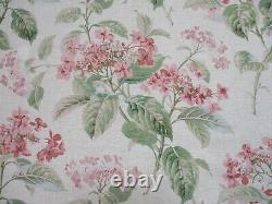 Colefax - Fowler Rideau Fabric'eloise Rose/green' 12 Mètres 100% Lin