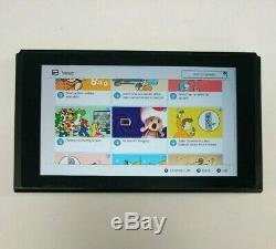 Console Nintendo Switch 32 Go Grise Avec Nouveau Rose Vert Joy-cons Hacskaaaa Enw37