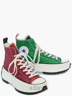 Converse X Jw Anderson Run Étoile Randonnée Glitter Rose / Bleu / Vert Taille L 8 / M 6,5