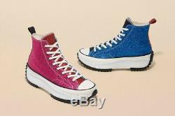 Converser Jw Anderson Run Star Taille 8.5 Hike Glitter Rose / Bleu / Vert