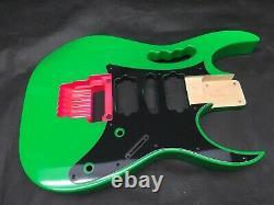 Corps De Guitare À 6 Cordes, Style Jem, Hsh, Osnj, Lochness Vert, Griffe Rose Rb061