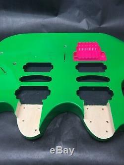 Corps De Guitare Style Doubleneck, Basswood, Jem, Vert Lochness, Griffe Rose Rb30