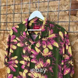 Ds New Supreme Daisy Rayon Shirt Vert/pink L Large Bogo Box Logo