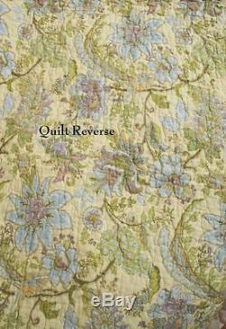 Ensemble De Couvre-lit Patchwork Patchwork Magnifique Vieux Pays Vintage Vintage Vert Vert Rose
