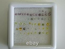 Fancy-orange-pink-blue-jaune-purple-green-1.36-cts-loose-diamond-package Deal