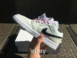 Femmes Air Jordan 1 Faible Se À Peine Vert Tailles Roses 6.5-11 In-hand Cz0776-300