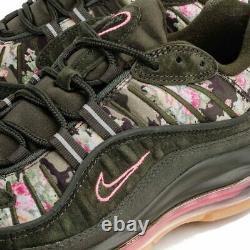 Femmes Nike Air Max 98 Camo Green Floral Black Print Pink Aq6468-300 Sz 6