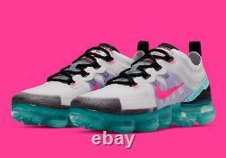 Femmes Nike Air Max Vapormax 2019 Sud Beach Platinum Pink Green Ar6632-005