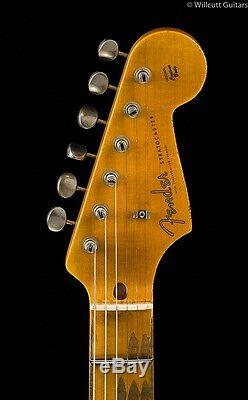 Fender Custom Shop 1957 Reliure Lourde Strat Seafoam Vert Sur Rose Paisley (951)