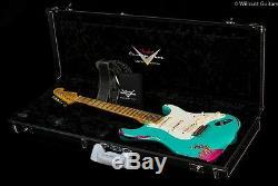 Fender Custom Shop 1957 Reliure Lourde Strat Seafoam Vert Sur Rose Paisley (982)