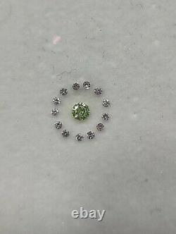 Forme Ronde Perroquet Vert Et Couleur Rose Diamant Naturel Pour Bijoux Bgcu-1