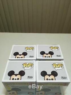 Funko Pop! Disney Mickey Mouse Bundle 4 Bleu Vert Violet Jaune Orange Rose