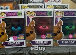 Funko Pop! Floqué Scooby-doo Bundle # 149 Bleu Rose Vert Samedi Matin