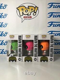 Funko Pop Marvin The Martian Green Orange Pink Duck Dodgers Sdcc 2017 1000 Pièce