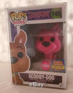 Funko Pop! Sdcc 2017 Floqués Scooby Doo # 149 Bleu, Rose, Green Set. Menthe