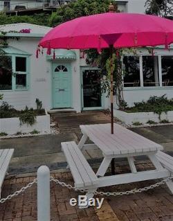 Grand 3 Mtr Large Bali Parapluies Blanc, Rouge, Rose Fuchsia, Jaune, Violet, Dk Grn