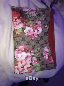 Gucci Fleur D'embrayage Bourse (imprimé Floral Magnifique, Rouge Rose Vert Et Blanc)