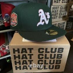 Hat Club Exclusive 7 3/8 Comme Vert Rose Uv Plus Ancienne Version